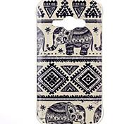 Elephant Pattern TPU Soft Case for Galaxy J1 Ace