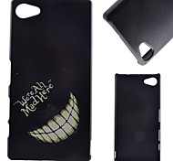 Black Smile Face Pattern PC Hard Cover Case for Sony Z5 Compact