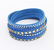 European Style Luxury Fashion Rivet Nail Leather Bracelet