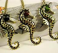 Hippocampus Pendant Long Necklace Women Fashion Jewelry