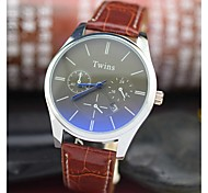 L.WEST Men's Blue Glass Waterproof Quartz Pointer Watch