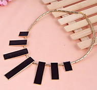 Rectangle Pendant Choker Necklace Women Fashion Jewelry