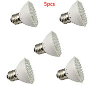 5pcs HRY® E27 3W 60LED 45Red+15Blue Grow Light Bulb Flowering Plant Hydroponic System Garden Lamp Promotion (220V)