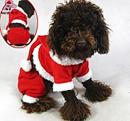 Cat / Dog Coat / Hoodie / Pants Red Winter Christmas Christmas / New Year's