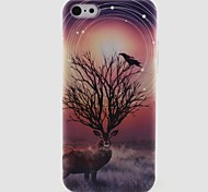 Reindeer Pattern TPU Soft Phone Case for iPhone 5C