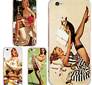 MAYCARI® The Charming Audrey Hepburn Transparent TPU Back Case for iPhone 6/iphone 6S(Assorted Color)