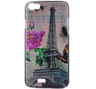 For Wiko Case Pattern Case Back Cover Case Eiffel Tower Hard PC Wiko
