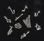 beadia металла музыкального инструмента& музыкальные ноты очарование подвески античный посеребренные DIY аксессуары ювелирные