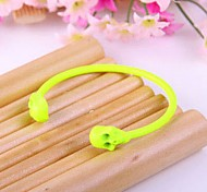 Fashion Wrist Band Jewelry Yellow Skull Bangle Bracelet Gift