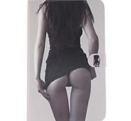 modèle sexy girl en cuir PU cas de tout le corps avec support et une carte slot pour galaxy tab 9.6 e T560