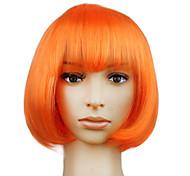 Cool BOBO Girl Short Women's Halloween Party Wig Orange Color