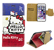 iphone 6 plus PU leather cover Disney Hello Kitty with a free Headfore HD Screen Protector for iphone 6+