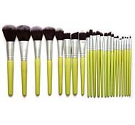 Kabuki Makeup Brush Set Cosmetics Foundation Blending Blush Eyeliner Face Powder Brush Makeup Brush Kit (23pcs,Green)