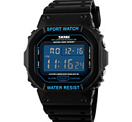 SKMEI Men's Sport Watch Wrist watch Digital Watch LCD Calendar Chronograph Water Resistant / Water Proof Alarm Luminous Stopwatch Digital