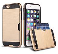 Für iPhone 6 Hülle / iPhone 6 Plus Hülle Kreditkartenfächer / Stoßresistent Hülle Rückseitenabdeckung Hülle Panzer Hart TPU für Apple