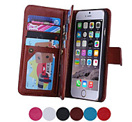 Luxury Multifunction 9 Card Holder Slots Wallet Flip Leather Stand Case For Apple iPhone 5/5S/5G Phone Case