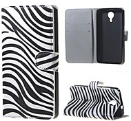 Zebra Stripes Wallet Leather Stand Case for BLU Life X8