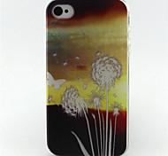 Löwenzahn Liebe Malerei-Muster-TPU weiche Tasche für iPhone 4 / 4S