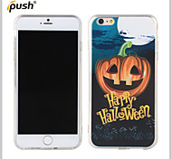 Halloween Series Pumpkin Smiling Face Painting Pattern TPU Back Cover for iPhone6 plus