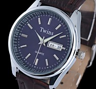 L.WEST Men's Luminous Double Calendar Waterproof Quartz Pointer Watch Wrist Watch Cool Watch Unique Watch