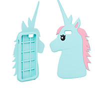 Fashion 3D Unicorn Design Protective Silicone Shell Cover for iPhone 6 Plus/6S Plus