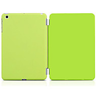 The Colorful Folding Solid Color PU Leather Cover with Hard Plastic Shell Case for iPad Air