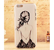 Sexy Girl Lady Plastic Hard Back Cover for iPhone 6s / iPhone 6