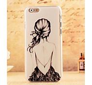 contraportada dura chica sexy señora por 6s iphone plus / iphone 6 más