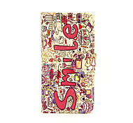 Smile Flowers Pattern PU Leather Full Body Case with Card Slot and Stand for iPhone 5C