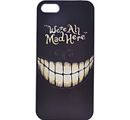Smiling Face Painting Pattern PC Case for iPhone 5/5S