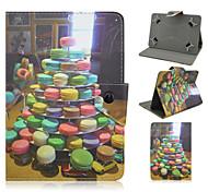 Kekse Muster Qualitäts-PU-Leder mit Standplatzfall für 7-Zoll-Tablet-Universal-
