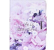 Beautiful Life Pattern PU Leather Full Body Case With Stand for iPad Air