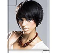 "Fashionable Human Hair  Virgin Remy Short Straight  1"" Monofilament Top Wigs"