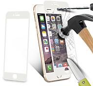 fibra de carbono protector de pantalla de borde redondo 3d clara de cristal templado de vidrio balístico para iPhone6&6s (color
