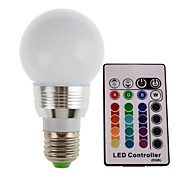 HRY® 5W E27 300LM RGB LED Color Light Bulb Lamp With Remote Control (85-265V)