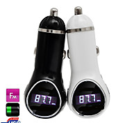 12V~24V USB Car Charger with FM Transmitter MP3 Player Function, Support USB Memory Input / 3.5mm Line-In