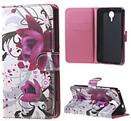 Kapok Flowers Wallet Leather Stand Case for BLU Life X8