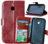 High Quality PU leather Wallet Mobile Phone Holster Case For Nokia Lumia N630(Assorted Color)