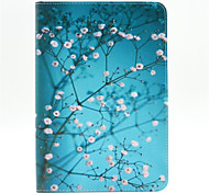 Small Plum Pattern PU Leather Full Body Case with Stand and Card Slot for iPad Mini 4