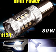 Super White High Power 80W 1920LMS 1157 BAY15D Tail Brake Stop LED Light Bulb US