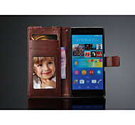 Top Quality PU Leather Wallet Case for  sony xperia Z4  with card holder