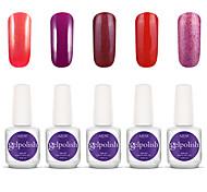 Gelpolish Nail Art Soak Off UV Nail Gel Polish Color Gel Manicure Kit 5 Colors Set S103