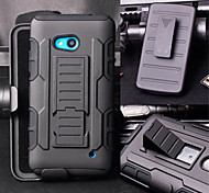 DE JI Future Armor Impact Holster Hybrid Hard Case for Microsoft Nokia Lumia 640 Phone Case Cover