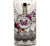 Butterfly Wreath Pattern TPU Relief Back Cover Case for  LG Spirit H440N/H422