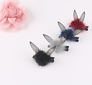 Rabbit Ears Little Feather Ball Hair Clip