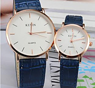 Couple Watch Simple Calibration Dial Lovers