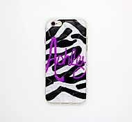 Zebra Pattern Pattern TPU Relief Cover Case for iPhone 6/6S