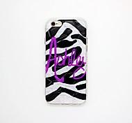 padrão de zebra caso capa alívio padrão TPU para iphone 6 / 6s