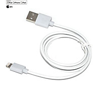 IMF d8 8 pines rayo macho a USB 2.0 cable macho para el iphone iphone 6 6 más iphone 5 / ipad aire / iPod (100cm)