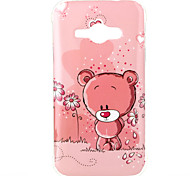Bear Pattern TPU Soft Case for Galaxy J1 Ace